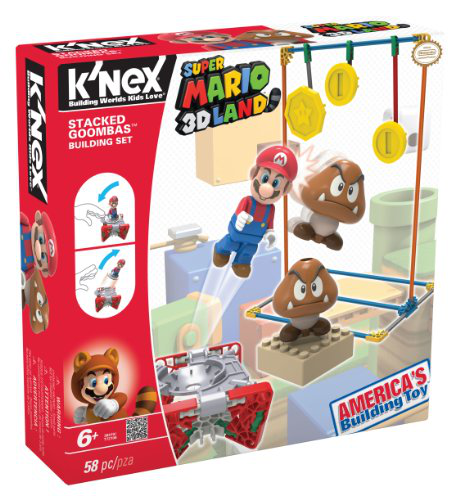 Knex Nintendo 3D Land Stacked Goombas